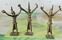 3 Ancien Personnage Statue Guerre Chasse Africains Mythologie Guerriers Bronze