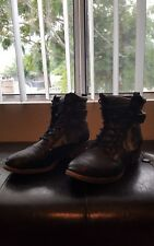 Qupid black camouflage combat boots fashion womens sz 6.5m