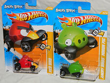 Angry Birds Red Bird & Minion Green Pig! ~ HOT WHEELS!! VERY NICE! F1