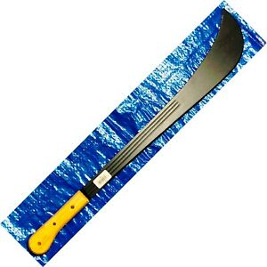 "Imacasa Machete 33 Trinidad Style 22"" Black Blade With Wood Handles  33--22B-MI"