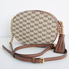 Michael Kors Bag Ginny Md Messenger Signature Natural Luggage New