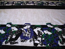 COTTON  JACQUARD CATWALK PANEL PRINT---DRESS/CRAFT FABRIC -FREE P+P