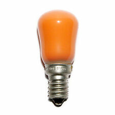 Compton Pygmy 15w Amber Coloured Lamp SES E14 Small Screw Cap Sign Light Bulb