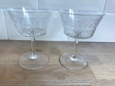Great Pair Of Vintage Pall Mall Lady Hamilton Champagne Coupes Glasses 11.75cm c