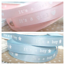 Its a Girl Ribbon Pink 10mm Wide BUY 2 GET 1 FREE