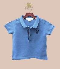 6 Months Authentic Burberry Polo T-Shirt Check Boy's Baby Children Infant Top