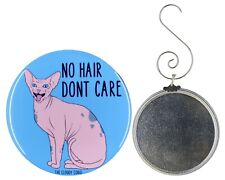 Sphynx Hairless Kitty Funny Ornament Crazy Cat Lady Gift Collectible Accessories