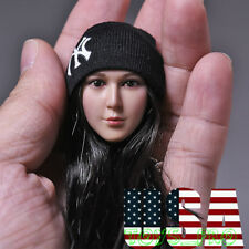 1/6 Scale Knit Black Beanie Hat Yankees Logo For 12'' Action Figure ❶USA❶