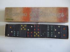 Dominos de couleurs en bois , fabriqués par JEUX SPEAR Allemagne circa 1950