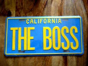 Nummernschild Blechschild California The Boss ca. 30x14cm (Kalifornien USA)