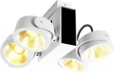 SLV TEC KALU CW, LED Indoor Wand- und Deckenaufbauleuchte, 4x weiß/schwarz