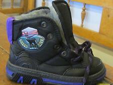 Childrens Apres Ski Boots. EURO Taglia 29. Nero con interno in pelliccia.