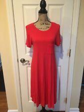 LuLaRoe Dress Carly Ribbed Red Size Medium EUC