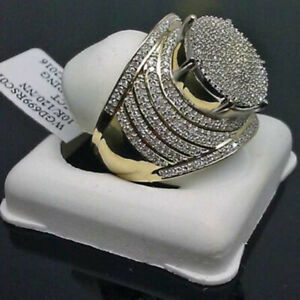 EU and American Men's Gold-plated Ring Full Diamond Super Domineering Men's Ring