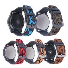 18/20/22 mm Leopard Leather Design Wrist Watch Band Strap With Quick Release Pin