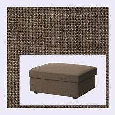 IKEA Kivik Ottoman w/ Storage COVER ONLY,Isunda Brown(MatesAvail)Footstool Tweed