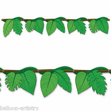 """54"""" hojas de hoja de vid Salvaje Fun Jungle Niños Fiesta Articulado recorte Banner"""