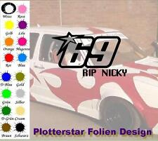 RIP Nicky 69 Hayden Motorradfahrer Sticker Aufleber Rest in Peace Kentucky Kid
