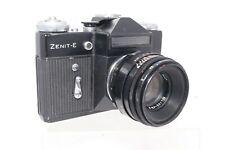 Vintage Zenit E SLR 35mm Film Camera Russian Helios 44 f2 58mm Lens Black Body