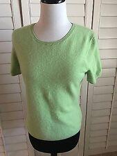 Mc Duff finest cashmere yarns LIGHT GREEN sweater sz M 100% cashmere