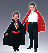"27"" RED SATIN POLYESTER CHILD CAPE VAMPIRE MAGICIAN HALLOWEEN COSTUME ACCESSORY"