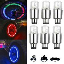 LED Autos SUV Wheel Tyre Tire Air Valve Stem Caps Decoration Green Light Lamp
