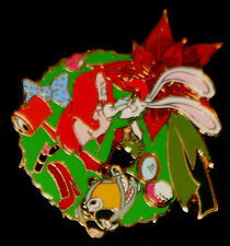 Disney Jessica, Roger Rabbit & Benny Christmas Wreath Advent Pin 2007 LE 1000