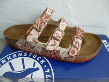 Birkenstock Mules Slippers Flowers Earth Red New