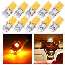 10 Yellow T10 5050 5 SMD W5W 194 168 LED 12V Car Side Wedge Tail Light Lamp Bulb