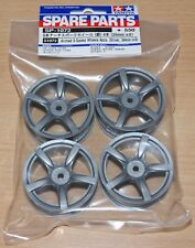 Tamiya 51072 Arched 5-Spoke Wheels 4 Pcs. (Silver, 24mm/±0) (TB02/TT01), NIP
