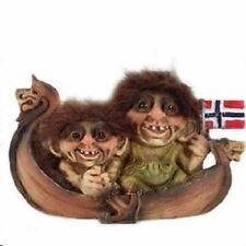 Nyform Norway Trolls in Viking Ship Figure, NEW
