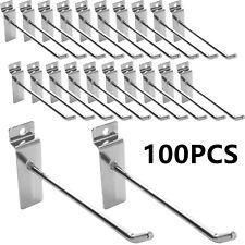 100pcs Slatwall Hooks Hangers Display Hooks 68 Single Rod Hooks Retail Store