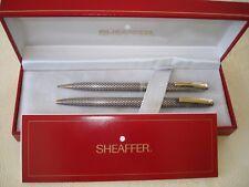 Vintage SHEAFFER 60's Imperial Sterling Square-Diamond Ball/Pencil Pens Set Box