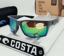 """COSTA DEL MAR matte gray/green mirror """"REEFTON"""" POLARIZED 580P sunglasses! NEW!"""