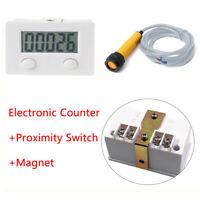 Neu LCD Digital 5 Digit Elektronische Punch Counter Zähler Mit Proximity Switch