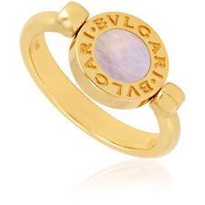 Bvlgari Bvlgari 18K Yellow Gold And Mother Of Pearl Onyx Ring Size 8.25