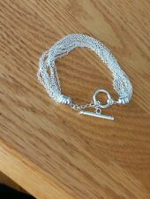 925 STERLING SILVER TOGGLE CLASP 10 STRANDS