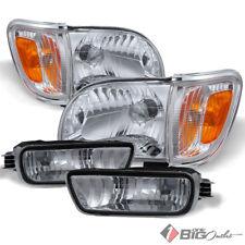 For 01-05 Tacoma Clear Headlights Corner Lights + Bumper Lights Assembly Set