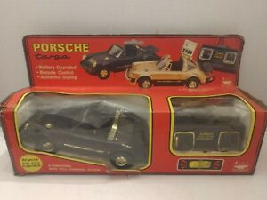 Vintage 1980's Porsche Targa Turbo Remote Control Car By New Bright