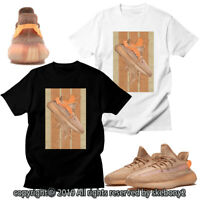 CUSTOM T SHIRT MATCHING STYLE OF adidas Yeezy Boost 350 V2 Clay AD-Y-4-2