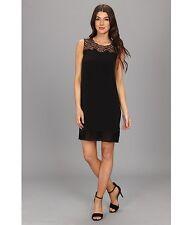 12 NWT Elie Tahari Black Silk Blend Suellen Dress,  $248.00 NEW