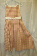 NWT Bonnie Jean Plus 18. 5 1/2 Dress Fit Flare Easter Summer Sun Checkered