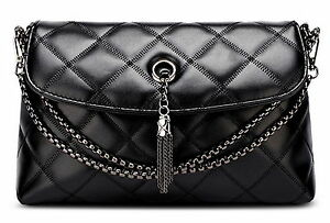 Women Messenger Bag Small Lady Leather Inclined Shoulder Bag Purse+Chain Strap