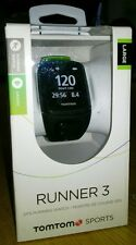 TomTom Runner 3 GPS Running Watch With Cardio - Black/Green
