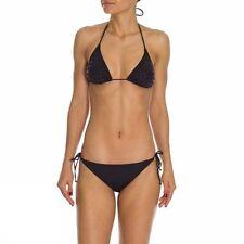 Sundek Denise Bikini 2 Piece Embellished Color Black SIZE 40 Small 4 W110KNL133