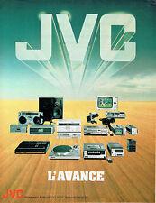 Publicité Advertising 028  1980   JVC   hi-fi téléviseurs  caméro ampli