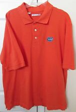 NCAA University of Florida Gators Mens Orange Golf Polo Shirt XL EUC Cutter Buck