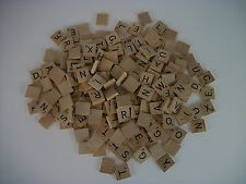185 WOOD SCRABBLE TILES For Crafts, Scrapbooking, Jewelry, Replacements