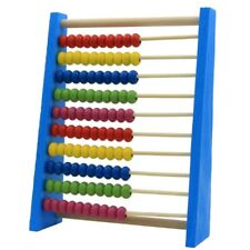 20cm Wooden Bead Abacus Counting Frame Childrens Kids Educational Maths Toys Hot