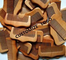 20-100pcs/lot Cutomize Logo Wood Beard Fine Tooth Beard Care Combs Wooden Comb
